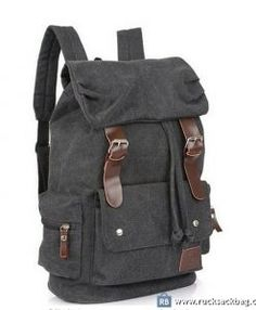 Rucksack Laptop Backpack Canvas Bag Men's Leather Canvas Bag Color: gray Material: canvas, leather Size: 42*32*11 cm Closure: zipper Pocket: mobile telephone pocket, zipper pocket How to Wash a Backpack