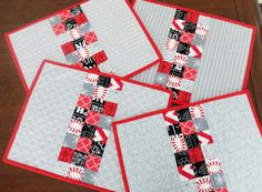 Hey, I found this really awesome Etsy listing at https://www.etsy.com/listing/269923837/modern-quilted-red-and-grey-placemats