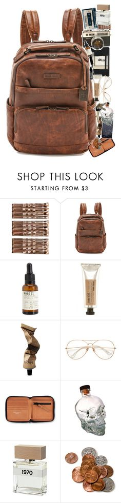 """""""It's in the Bag 1.0"""" by sparkling-oceans ❤ liked on Polyvore featuring Moleskine, Monki, Frye, Le Labo, Acne Studios, Avon, Bella Freud and vintage"""