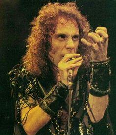 Ronnie James Dio - love the cufflink things! Heavy Metal Rock, Heavy Metal Music, Heavy Metal Bands, Black Sabbath, Ritchie Blackmore's Rainbow, James Dio, Classic Rock Bands, Rock Legends, Dios