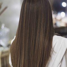 e Hair Color Balayage, Hair Highlights, Shiny Hair, Dark Hair, Cut My Hair, Hair Cuts, Hair 2018, Hair Lengths, Dream Hair