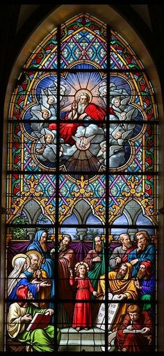 Stained Glass Church, Stained Glass Art, Stained Glass Windows, Mosaic Glass, Stained Glass Designs, Stained Glass Patterns, Church Windows, Chapelle, Leaded Glass