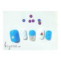 Instagram media by kiyone_lim - カルピススイカ Sr.manicurist ::: NATSUMI #kiyonelim #nail #nailart #natsuminail #singapore #nailtip #colors #ネイル #カルピス #スイカ