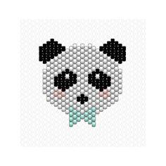 Je vous présente mon Panda Boy  n'est il pas trop mignon ?  #miyuki #perlesmiyuki #miyukidelica #miyukibeads #brickstitch #diy #handmade #panda #boy #jenfiledesperlesetjassume #jenfiledesperlesetjaimeca #motifcharlottesouchet Charlotte Souchet ©
