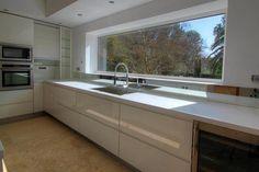 What I want for kitchen window lakeside Kitchen Room Design, Luxury Kitchen Design, Home Room Design, Kitchen Cabinet Design, Dining Room Design, Kitchen Layout, Home Decor Kitchen, Bohemian Kitchen, Modern Kitchen Cabinets