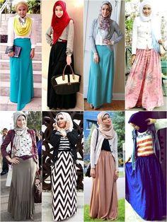 Hijab Fashion 2016/2017: Sélection de looks tendances spécial voilées Look Descreption Hijab Fashion with Long Skirt