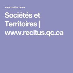 Sociétés et Territoires | www.recitus.qc.ca