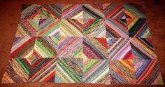Strick - Ideen » Dicke Decke aus Sockenwollresten