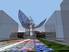 Organograph climate clock, San Jose  #climatechange #robotics #solar #carbon #ecoart #greendesign #gardening #inhabitat