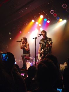 Chrissy Costanza and Daniel Gow of Against the Current opening on the Live Forever Tour