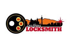 Logo design for Las Vegas Locksmith. Visit their website at http://lasvegaslocksmithsnv.com. Designed by edje.com.