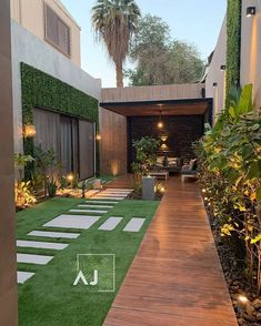 SWIPE 👉🏻 to see this magical transformation ✨. What do you think about it?   This is how a dream small backyard exactly looks like… Loft Interior, Decor Interior Design, Interior Decorating, Design Exterior, Modern Exterior, Landscape Design, Garden Design, House Design, Terrace Design