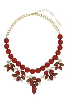 Red Bead And Stone Necklace #MyChristmasStory