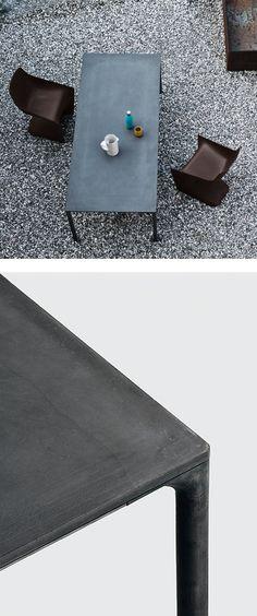 #cement table BOIACCA by Kristalia | #design LucidiPevere @kristaliadesign