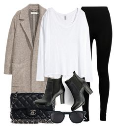 """""""Untitled #11837"""" by vany-alvarado ❤ liked on Polyvore featuring Wolford, H&M, Chanel, SWEET MANGO and Yves Saint Laurent"""