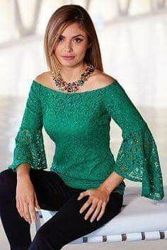 You are beautiful in winter green lace detailed with sparkling sequins and sheer three-quarter asymmetric bell sleeves in a sexy off-the-shoulder silhouette. Fully lined with outfits winter indie Off-the-shoulder Sequin Lace Top Look Fashion, Runway Fashion, Trendy Fashion, Womens Fashion, Fashion Design, Bohemian Fashion, Fashion Trends, Paris Fashion, Fashion 2018
