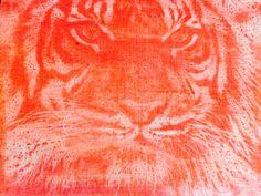 Jenny: tiger disperse dye print