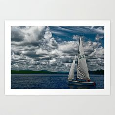 Sailing in Maine Art Print by TiffanyUptonPhotography - $17.68