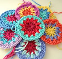 Yarn candy... gorgeous colours for granny squares.