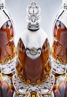 by Ivan Venkov exploring sculptural aesthetics in crystal glass. Alcohol Bottles, Liquor Bottles, Drink Bottles, Perfume Bottles, Tequila Bottles, Rum Bottle, Wine Bottle Labels, Whiskey Bottle, Beer Labels