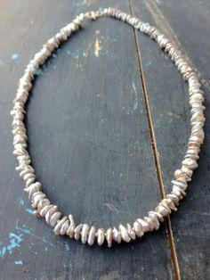 collar de perles keshi
