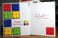 LEGO Card builds up