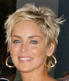 Sharon Stone Short Pixie Hairstyle | Short Summer Hairstyles | Hairstyles, Haircuts,Best Hairstyles 2013