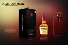 Maker's Mark Whisky Gift Box Concept – Cardboard Box – inspirationpatterns Paper Drawing, Fun Cooking, Makers Mark, Whisky, Bourbon, Vodka Bottle, Fence, Concept, Graphic Design