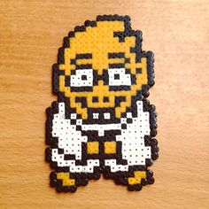 Doctor Alfhys - Undertale perler beads by redmoondk