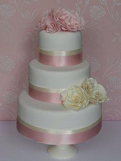 Ivory & Pink Cake
