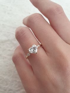 Heart Shaped Promise Rings, Heart Shaped Diamond Ring, Heart Shaped Engagement Rings, Engagement Ring Shapes, Rose Gold Engagement Ring, Designer Engagement Rings, Heart Rings, Large Wedding Rings, Heart Wedding Rings