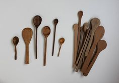 Spoon carving! Tools: hardwood spoon blanks, carving knife, spoon gouge(s), sand paper, oil. :D