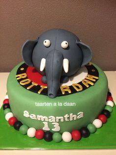 Feyenoord taart Feyenoord cake