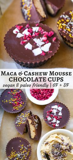 Maca Cashew Mousse Chocolate Cups are a delicious healthier dessert, vegan and paleo friendly! Gluten free, dairy free and naturally sweetened with maple syrup. Recipe via http://nourisheveryday.com