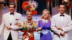 Carmen Miranda, Alice Faye, John Payne e César Romero cantam The Nango