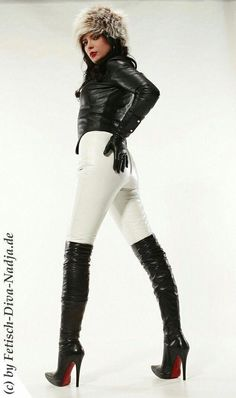 super tight leather trousers and boots Thigh High Boots Heels, Stiletto Boots, Hot High Heels, Heeled Boots, Botas Sexy, Leather Fashion, Fashion Boots, Leder Outfits, High Leather Boots