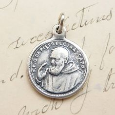 Sterling Silver Padre Pio Medal - Patron of stress relief
