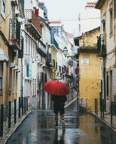 And then the rains came. #lisbon Re-post by Hold With Hope