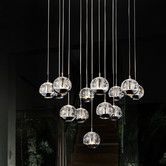 Features:  -Requires 13 G4 bulbs max 20 W (sold seperately).  -cETLus approved.  -Comes with chrome round base.  Chandelier Type: -Mini chandelier.  Finish: -Chrome.  Material: -Metal.  Number of Ligh