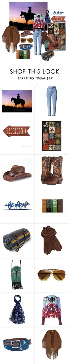 """Wild West"" by atenaide86 ❤ liked on Polyvore featuring Mohawk, Peter Grimm, Durango, WALL, Pendleton, Maison Fabre, Old Gringo, ZeroUV, Forever Collectibles and Mary Katrantzou"