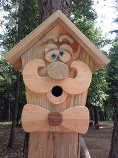 Handmade Wood Gentleman Birdhouse by DJsHomespunHeart on Etsy