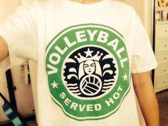 Volleyball Starbucks Shirt #ad