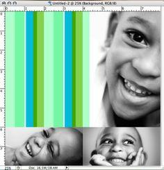 create striped pattern