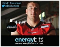 "DIMITRI TSOUMPAS: Dimitri is a former CFL Calgary Stampeders guard. Dimitri retired after the 2013 season after suffering head injuries. He is a three time CFL All-Star and Grey Cup Champion. Now he is one of the trainers for the Calgary Stampeders and is an advocate for head injury awareness in sport. ""I really believe in the product, I think that the algae is a must have product for most athletes out there, and would like to recommend and spread the word."""