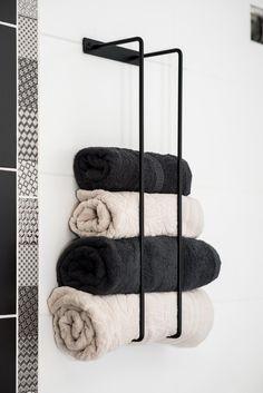 Wall Mounted Towel Holder, Towel Holder Bathroom, Steel Bar, Steel Metal, Bad Wand, Black Towels, Stainless Steel Plate, Towel Rail, Bathroom Interior Design