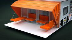 """The Awning"" – Mobile Living – House Hunting Trailer Awning, Diy Camper Trailer, Slide In Camper, Tiny Camper, Car Camper, Campers, Offroad Camper, Mobile Living, Mobile Home"