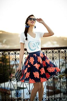 Pome Blossom Skirt #anthropologie