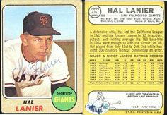 Hal Lanier San Francisco Giants Autographed 1968 Topps Vintage Card Rare SL COA . $8.00. San Francisco Giants SSHal LanierHand Signed1968 Topps Card # 436Card Has Two Creases One Vertical and One Horizontal.GREAT AUTHENTIC BASEBALL COLLECTIBLE!! .AUTOGRAPH AUTHENTICATED BY SPORTS LOT AUTHENTICATION WITH NUMBERED SPORTS LOT AUTHENTICATION STICKER ON ITEM.SPORTS LOT COA: # 5535ITEM PICTURED IS ACTUAL ITEM BUYER WILL RECEIVE.