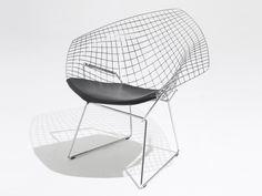 Knoll Diamond Armchair in Leather