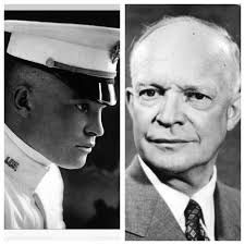 "Dwight David ""Ike"" Eisenhower (October 14, 1890 – March 28, 1969) an American politician and Army general who served as the 34th US President from 1953 until 1961."